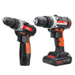 New 12V/24V Lithium Battery Power Drills Cordless Rechargeable 2 Speed Electric Drill