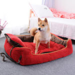 New 2 Colors Luxury Corduroy Pet Sofa Couch Bed Dog Cat Winter Kennel for Large Dogs Pet Bed