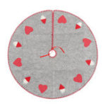 New 100cm Christmas Santa Tree Skirts Xmas Ornament Pink Heart Mat Border Party Decoration