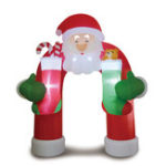 New 11ft / LED Inflatable Toys Santa Claus Arch With Blower Garden Layout Christmas Decoration