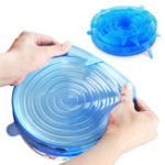 New 6PCS Reusable Food Cover Fresh Keeping Sealing Stretch Lid Kitchen Storage Container Silicone Lid