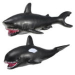 New 30cm White Shark Killer Whale Soft Model Toys Glue Material