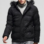 New Mens Winter Thick Warm Detachable Hooded Padded Jacket Parka