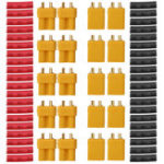 New 10 Pair URUAV XT30U Male Female Bullet Connectors Power Plug with Heat Shrink Tubing for Lipo Batter