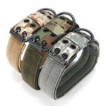 New L Tactical Military Adjustable Dog Training Collar Nylon Leash w/Metal Buckle