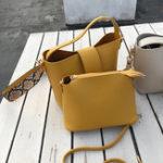 New Two-piece Solid Snake Pattern Bucket Handbag Shoulder Bag