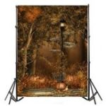 New 5x7FT Dusk Street Lamp Halloween Theme Photography Backdrop Studio Prop Background