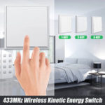 New 433MHz 1/2/3-Key Stairway Remote Control Switch Protocol Wireless Energy Switch Corridor Room Home Remote Lighting Remote Switch