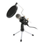 New Professional Condenser Microphone Stereo Mic With Stand for Phone PC Karaoe Recording Podcasting