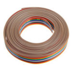 New 5M 1.27mm Pitch Ribbon Cable 14P Flat Color Rainbow Ribbon Cable Wire Rainbow Cable