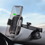 New Baseus Smart Infrared Sensor Auto Lock 10W Qi Wireless Fast Charge Car Phone Holder for iPhone XS
