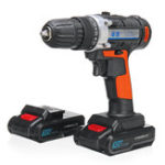 New 30V Cordless Rechargeable Power Drill Driver Electric Screwdriver with 2 Li-ion Batteries