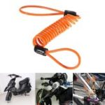 New 1.5M Disc Lock Security Reminder Cable Motorcycle Scooter Bike Anti-thieft Tool
