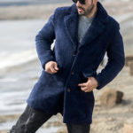 New Mens Winter Thick Warm Faux Shearling Jacket Fleece Coat