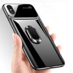New Bakeey 360º Rotation Ring Grip Kickstand Tempered Glass Lens Protection PC Protective Case For iPhone X/XR/XS/XS Max