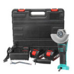 New 21V Cordless Angle Grinder 10000mAh Lithium Angle Grinding Machine Tools 2 Speed