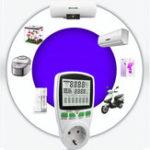 New PM001-G AC Power Meters 220V 50Hz Digital Wattmeter Energy Meter Watt Monitor Electricity Cost Diagram Measuring Power Energy Meter