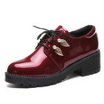New Women Oxfords Casual Shoes Lace Up Flats Brogue Shoes