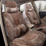 New Plush Car Front and Back Seat Cushion Winter Warmer Cover Pad Chair Protector Universal
