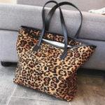 New Women Fashion Leopard Large Capacity Handbag