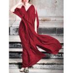 New Plus Size Off Shoulder Party High Slit Long Maxi Dress