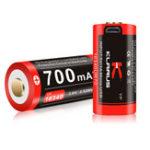 New Klarus 16GT-70UR 700mAh USB Rechargeable LED Charging Indicator 16340 Battery For Flashlight