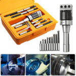 New R8 Shank 2 Inch Boring Head with 9pcs 12mm Carbide Boring Bar Set Milling Tool