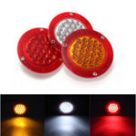 New 12V 24 LED Round Car Rear Tail Light Turn Signal Reversing Lamp for Trunk Tailer