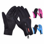 New Motorcycle Bicycle Outdoor Skiing Touch Screen Sports Elastic Gloves Fleece Warm