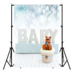 New 3x5FT Newborns Baby & Teddy Bear Photography Backdrop Studio Prop Background