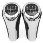 New 5 6 Speed Leather Chrome Aluminum Manual Gear Shift Knob For BMW E82 E90 E91 E60 E63 E83 E84 E53