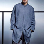 New ChArmkpR Mens Loose Dropped Shoulder Bat-wing Sleeve Shirts