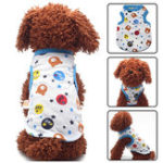 New 3 Color Cartoon Print Pet Costume Dog Cat Sleeveless Coat Vest Clothes For Summer Cool Small Dogs Vests Shirts Clothing Apparel