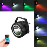 New AC90-240V 15W RGB White COB LED Stage Light Remote Control Sound-activated Par Lamp for Christmas