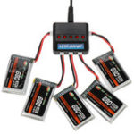 New XF POWER 3.7V 680mAh 30C 1S Lipo Battery PH 2.0 Plug with Battery Charger