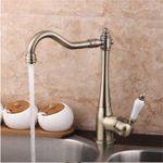 New Antique Copper Kitchen Basin Sink Faucet Bathroom Single Lever Mixer Tap