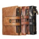 New Outdoor Travel Men Slim RFID Leather Bifold Wallet Card Holder Purse Billfold Pocket