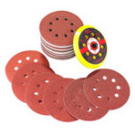 New 60pcs 60-320 Grit Sanding Disc Sandpaper with Backing Pad for Rotary Tool