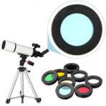 New 8Pcs/set  1.25inch Lens Filter Kit Nebula Filter Moon Sun Filter For Telescope Eyepiece Accessories