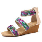 New Women Thick Heel Wedges Sandals