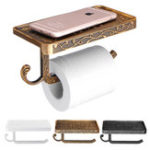 New AU Wall Mounted Toilet Roll Tissue Paper Shelf Holder Stand Phone Shelf Bathroom Paper Hold