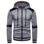 New Mens Casual Cotton Long Sleeve Hooded Sweatshirt