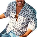 New INCERUN Mens Hawaiian Style Summer Long Sleeve Beach Shirts