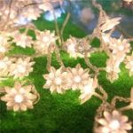 New 10M 100LED String Lotus Flower Light for Christmas Wedding Holiday Party Decor EU Plug AC220V
