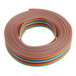 New 5pcs 5M 1.27mm Pitch Ribbon Cable 16P Flat Color Rainbow Ribbon Cable Wire Rainbow Cable