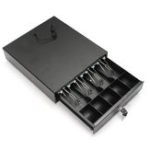 New Heavy Duty Cash Drawer Box Money Box POS Register RJ-11 Key Lock With 4 Bill 5 Coin Trays