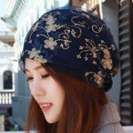 New Women Breathable Flower Turban Hat Floral Chemo Caps