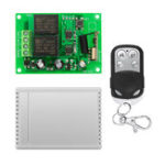 New DC12V 2 Channel  Remote Control DC Motor Reversing Controller Switch Relay Module With Remote Controller