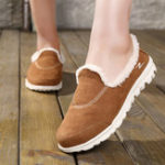 New Slip On Casual Comfy Keep Warm Flat Loafers