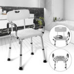 New Adjustable Medical Shower Folding Chair Bathtub Bench Bath Seat Aid Stool Armrest Back